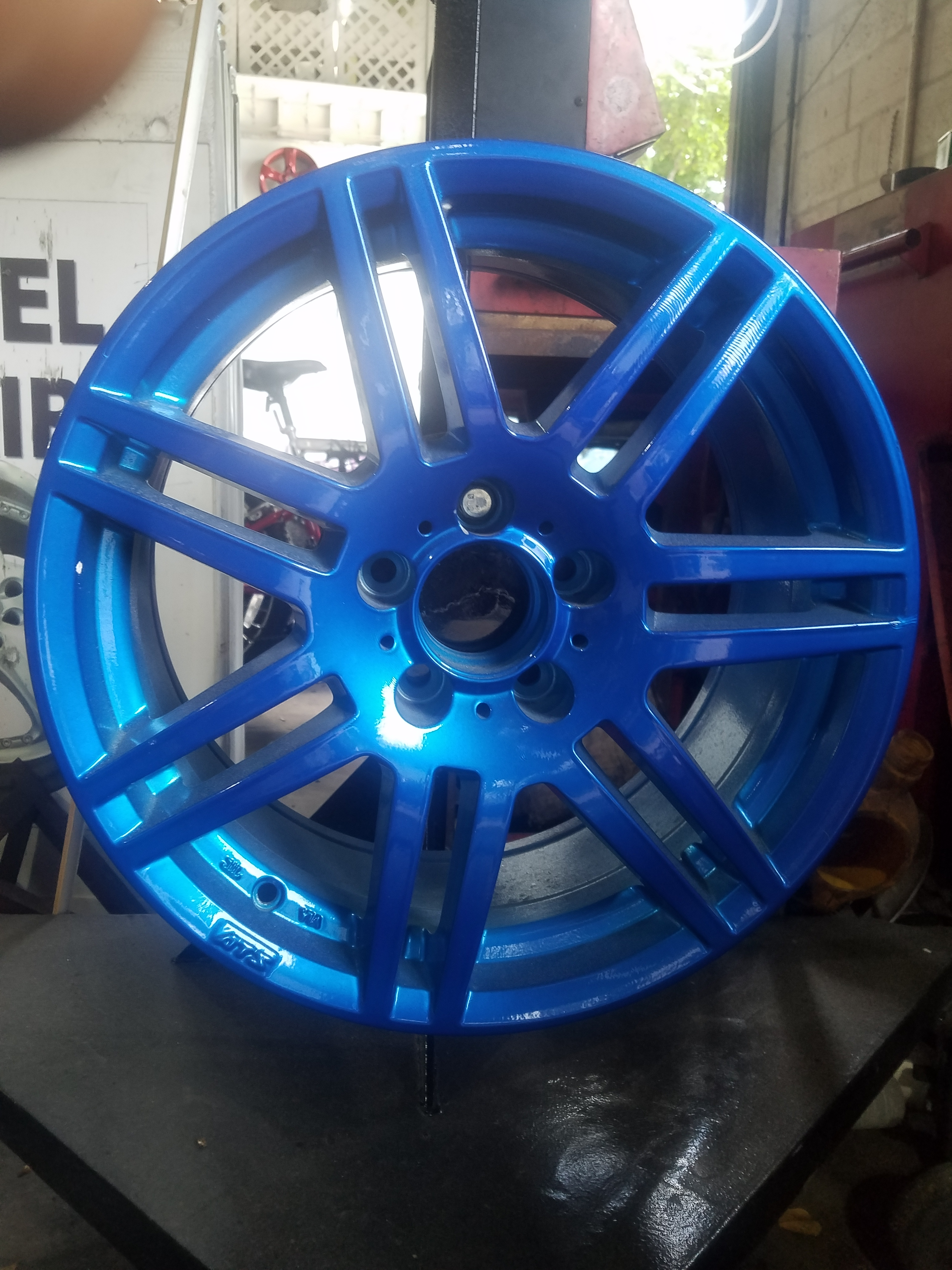 Custom Blue Rim